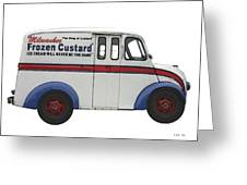 Frozen Custard On Wheels Greeting Card