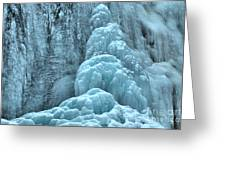 Frozen Falls Along The Icefields Parkway Greeting Card