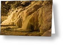Frozen Falls Greeting Card