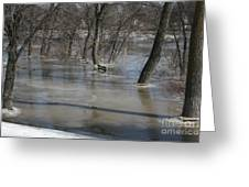 Frozen Floodwaters Greeting Card