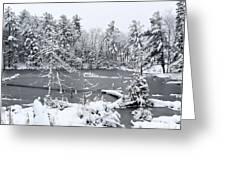 Frozen Lake 3 Greeting Card