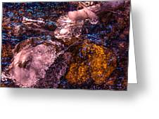 Frozen Lake Abstract Greeting Card by Tom Potter