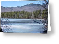 Frozen Lake Chocorua Greeting Card