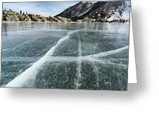 Frozen Lake In The High Sierra Greeting Card