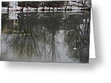 Frozen Lake Reflection Greeting Card