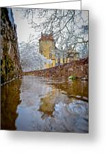 Frozen Moat At Fonthill Greeting Card