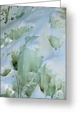 Frozen Moss Glen Falls Greeting Card