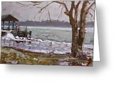 Frozen Niagara River Greeting Card