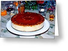 Frozen Pumpkin Mousse Torte Greeting Card