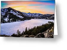 Frozen Reflections At Echo Lake Greeting Card