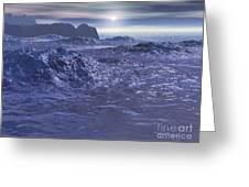 Frozen Sea Of Neptune Greeting Card