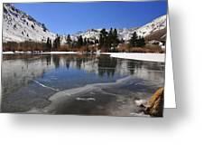 Frozen Sierra Lake Greeting Card