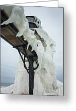 Frozen St. Joseph Outer Lighthouse Greeting Card