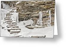 Frozen Stairs Greeting Card