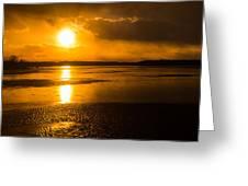 Frozen Sunset Greeting Card