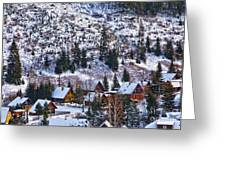 Frozen Village V2 Greeting Card