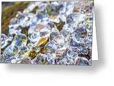 Frozen Water Droplets Greeting Card