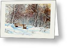 Frozen  View Greeting Card