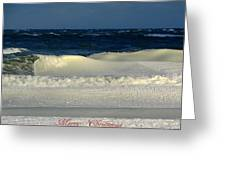 Frozen Waves Christmas Card Greeting Card