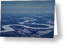 Frozen Yukon River - Alaska  Greeting Card