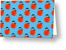 Fruit 01_orange_pattern Greeting Card