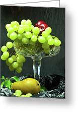 Fruit And Crystal. Greeting Card
