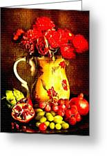 Fruit And Flower Still-life H B Greeting Card