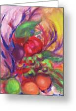 Fruit And Flowers Greeting Card