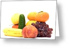 Fruit And Vegetables Ansamble Greeting Card