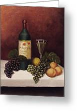 Fruit And Wine  B Greeting Card by Helen Thomas