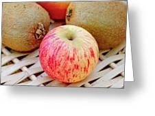 Fruit Basket. Apple. Greeting Card