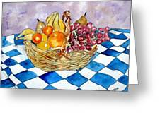 Fruit Basket Still Life 2 Painting Greeting Card