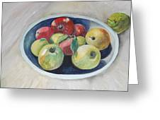 Fruit Bowl For Health Greeting Card by Janna Columbus