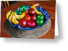 Fruit Bowl Still Life Greeting Card