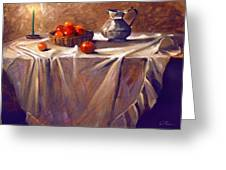 Fruit By Candle Light Greeting Card