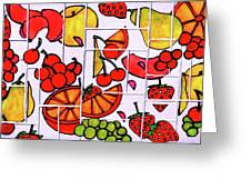 Fruit Fractals Greeting Card