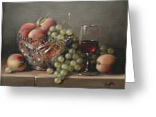 Fruit In A Crystal Bowl Greeting Card