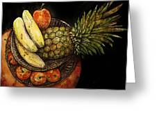 Fruit In The Round Greeting Card