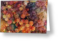 Fruit Of The Vine Greeting Card by Barbara Berney