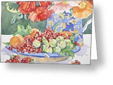 Fruit On A Plate Greeting Card