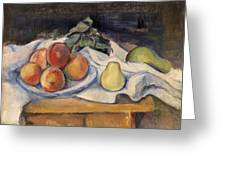 Fruit On A Table Greeting Card