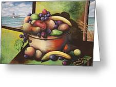 Fruit On The Beach Greeting Card