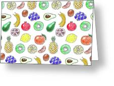 Fruit Pattern  Greeting Card