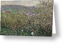 Fruit Pickers Greeting Card by Claude Monet