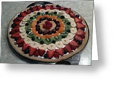 Fruit Pizza Greeting Card