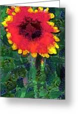 Fruit Salad Flower Greeting Card