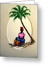Fruit Seller Greeting Card