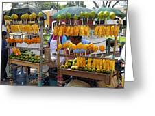 Fruit Stand Antigua  Guatemala Greeting Card by Kurt Van Wagner