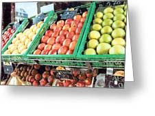 Fruit Stand Greeting Card
