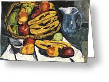 Fruit Still Life By Marsden Hartley Greeting Card